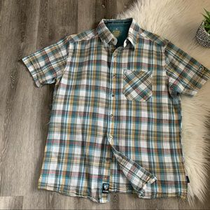Kuhl Mens M Shirt S/S Button Up Plaid Medium